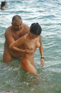 Amateur couples naked at the beach #12862571