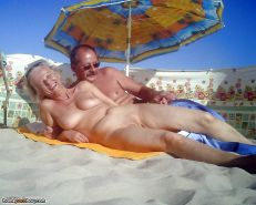 Amateur couples naked at the beach #12862606
