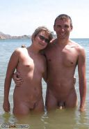 Amateur couples naked at the beach #12862730