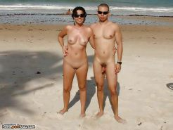 Amateur couples naked at the beach #12862747