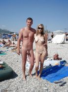 Amateur couples naked at the beach #12862822