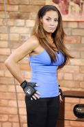 Trish Stratus Canadian TV Show Doing Her Workout Routine