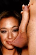 Leah remini sucking ball