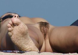 Hairy Babes Caught on Beach 2 by Voyeur TROC #16863373