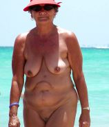 Naked grannies on beach