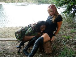 Two lesbians outdoor