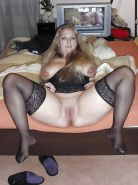 Open and Wide with Stockings - Nylons - Medias (131)
