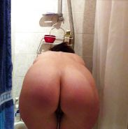 Spy mimie my naked wife taking a shower