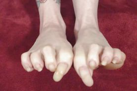 White chicks with long nails and long toenails Part 2