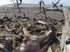 Wanking at the beach....caught by another guy