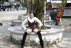 Chinese girl flashing pussy in public Porn Pics #16564384