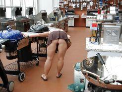 Upskirt shopping