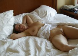 Sexy mature on the bed  ....