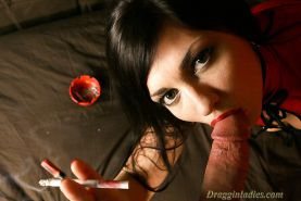 Franchezca Valentina  2  - Smoking Fetish at Dragginladies