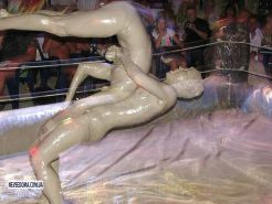 Female mud wrestling