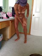 Wife showered and tan