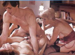 Vintage pornstar Aunt Peg in threesome