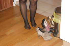 High heels of my horny wife - shoe closet