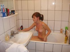 Girl and shower