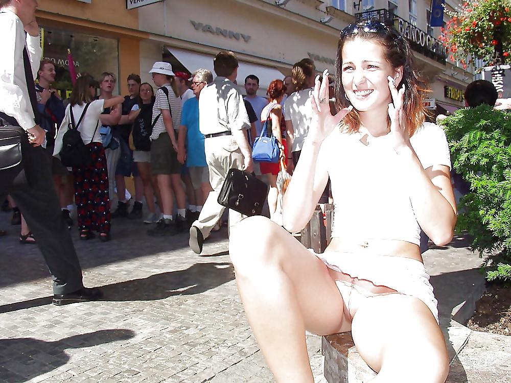 Upskirt No Panties #rec Amateur showing pussy PublicNudity 3 Porn Pics #6570011