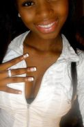 Cute ebony teen