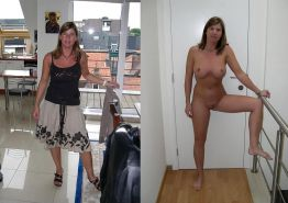 Dressed and undressed horny women Porn Pics #7702211