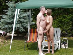 Couples Standing Naked Together  #1335739