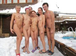 Couples Standing Naked Together  #1335906