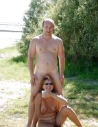 Couples Standing Naked Together   #1337426