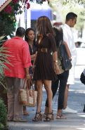 Tyra Banks leaving the Next Door restaurant in Hollywd