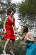 Lovely Aussie lesbians have fun outdoors
