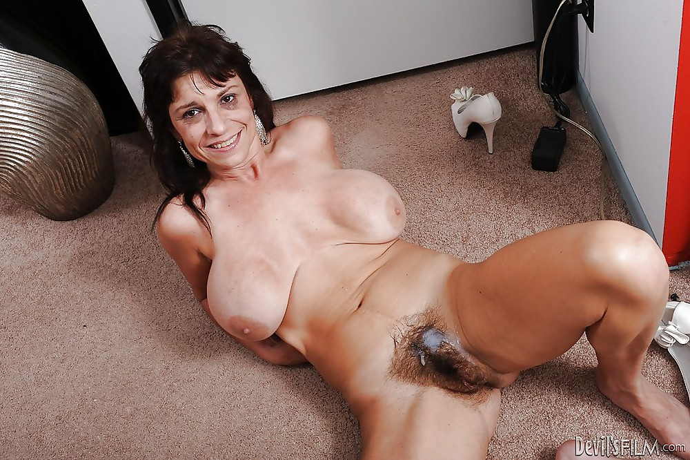 Milf Spreading Hairy Pussy Porn Pics #22830459
