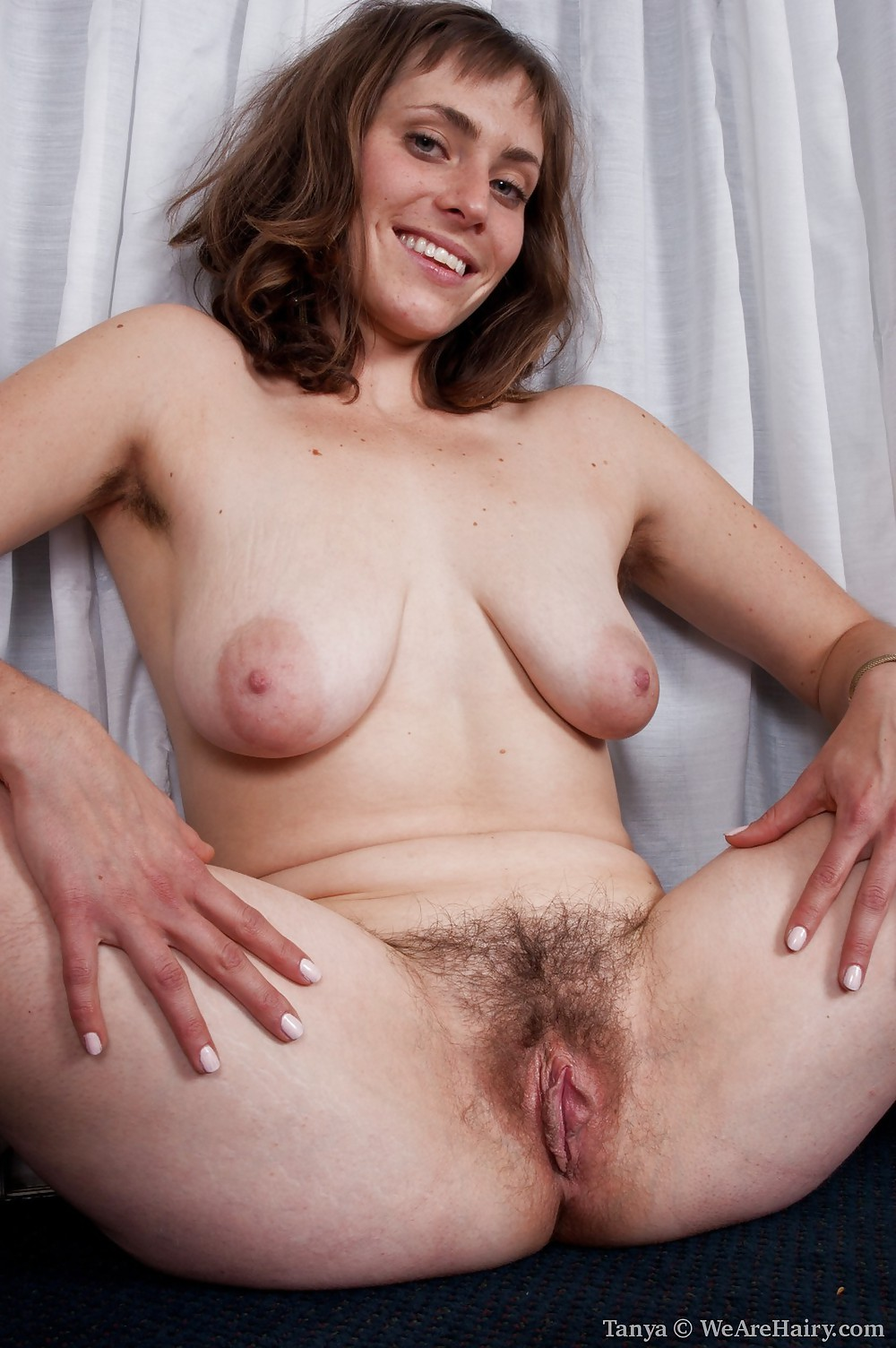 Milf Spreading Hairy Pussy Porn Pics #22830603