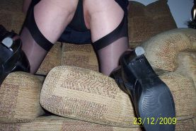 Stocking,s and up skirt