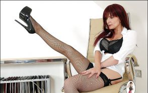 Mature Redhead Babe In Stockings