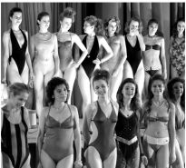Vintage soviet beauty contest