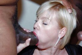 Black on White BJ & Cum