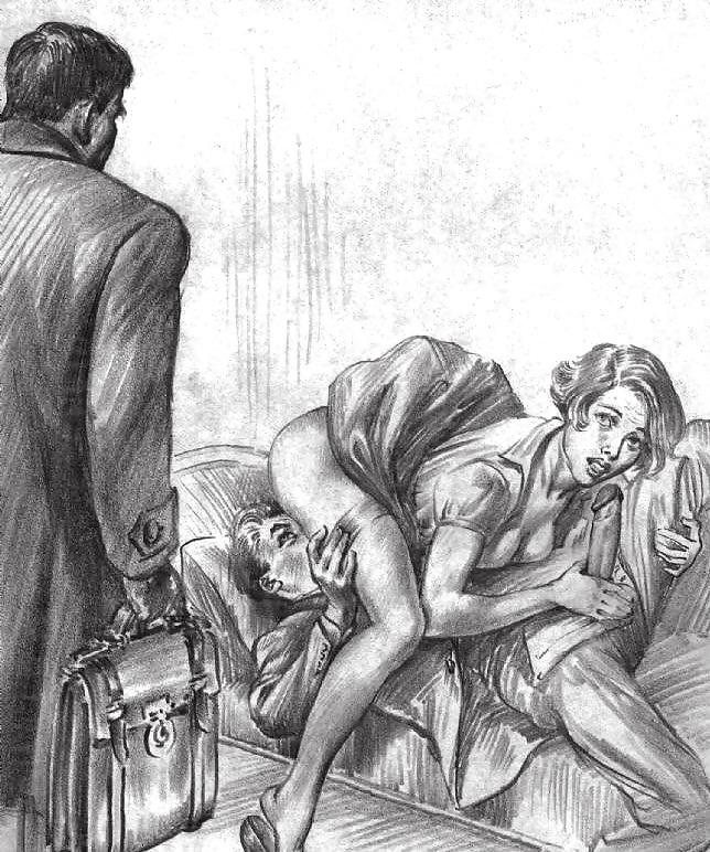 Erotic Vintage drawings Porn Pics #295072