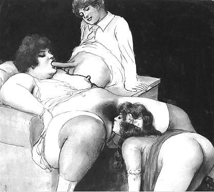 Erotic Vintage drawings Porn Pics #295080