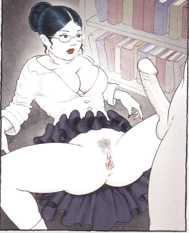 Erotic Vintage drawings Porn Pics #295089