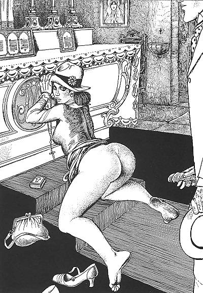 Erotic Vintage drawings Porn Pics #295133