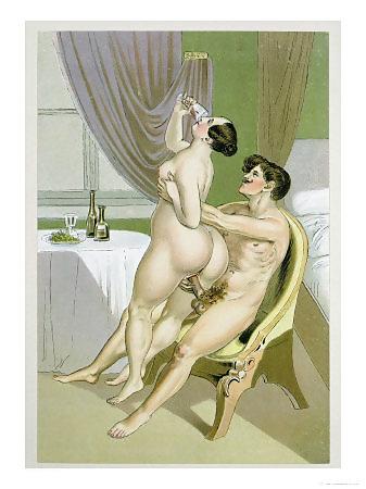Erotic Vintage drawings Porn Pics #295141