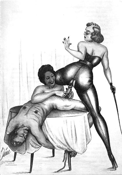 Erotic Vintage drawings Porn Pics #295192