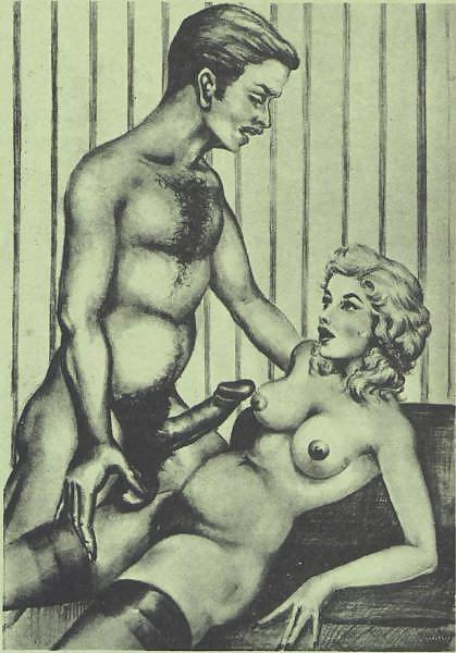 Erotic Vintage drawings Porn Pics #295201