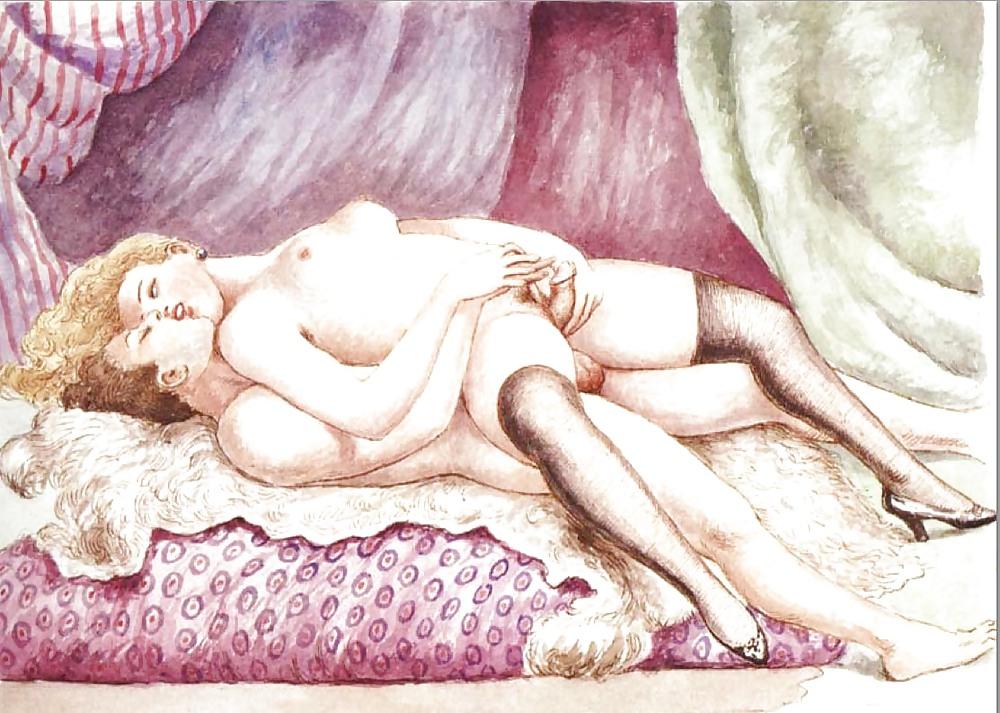 Erotic Vintage drawings Porn Pics #295212