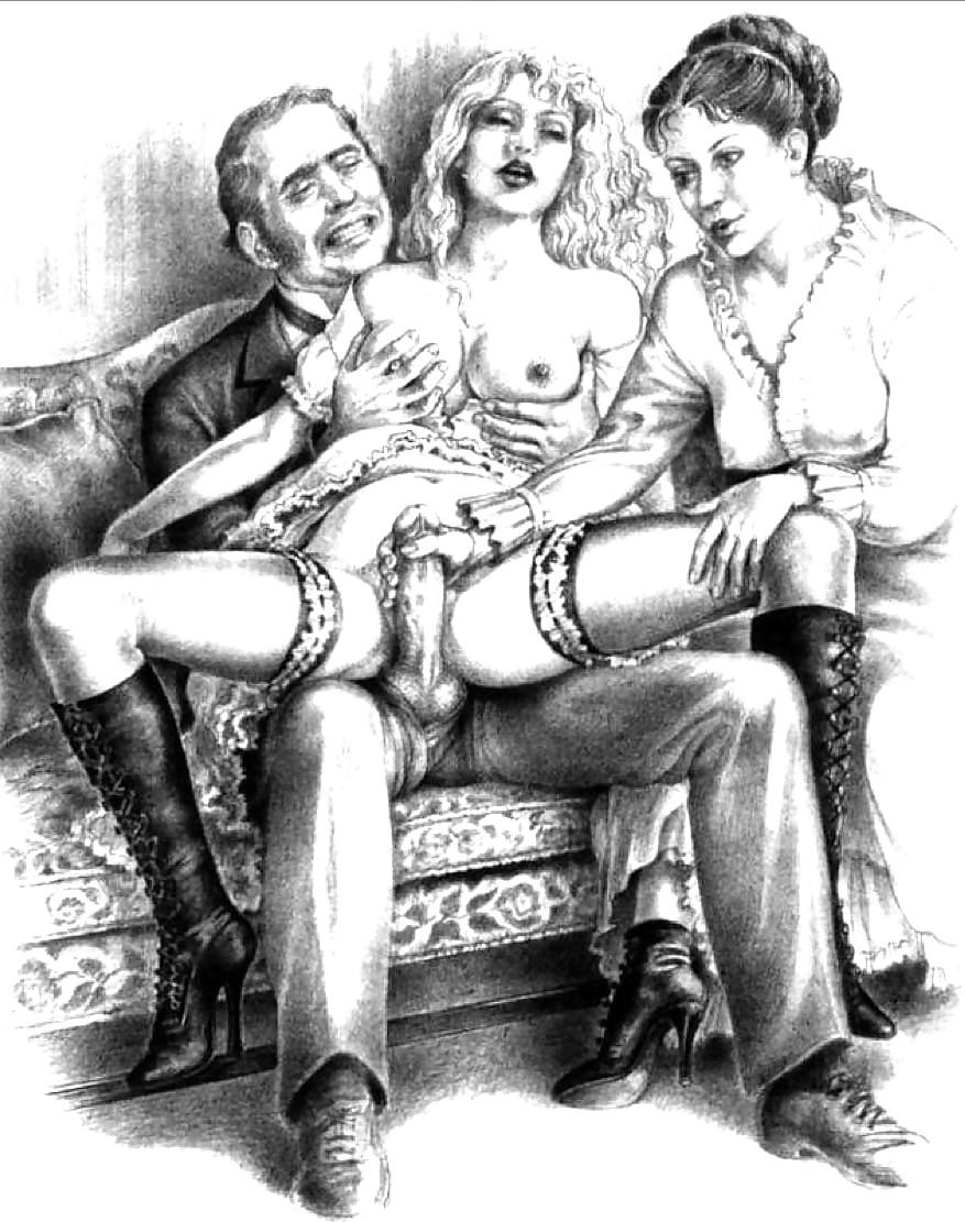 Erotic Vintage drawings Porn Pics #295225