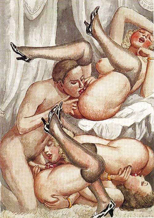 Erotic Vintage drawings Porn Pics #295249