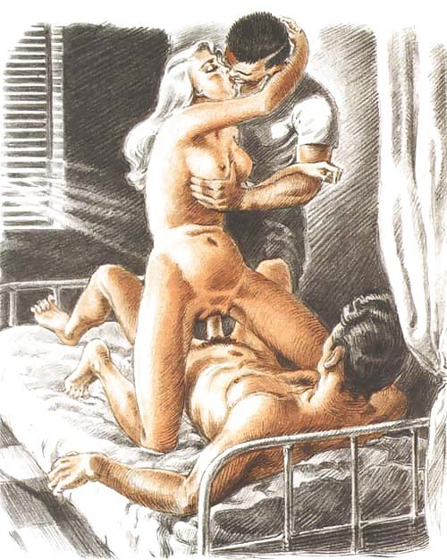 Erotic Vintage drawings Porn Pics #295257