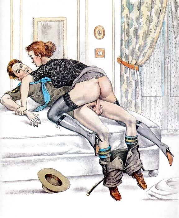 Erotic Vintage drawings Porn Pics #295289