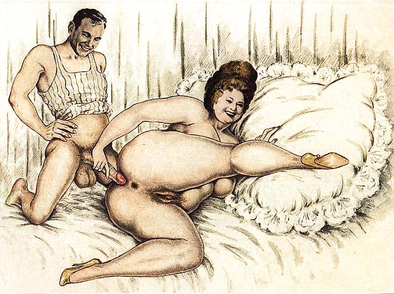 Erotic Vintage drawings Porn Pics #295328